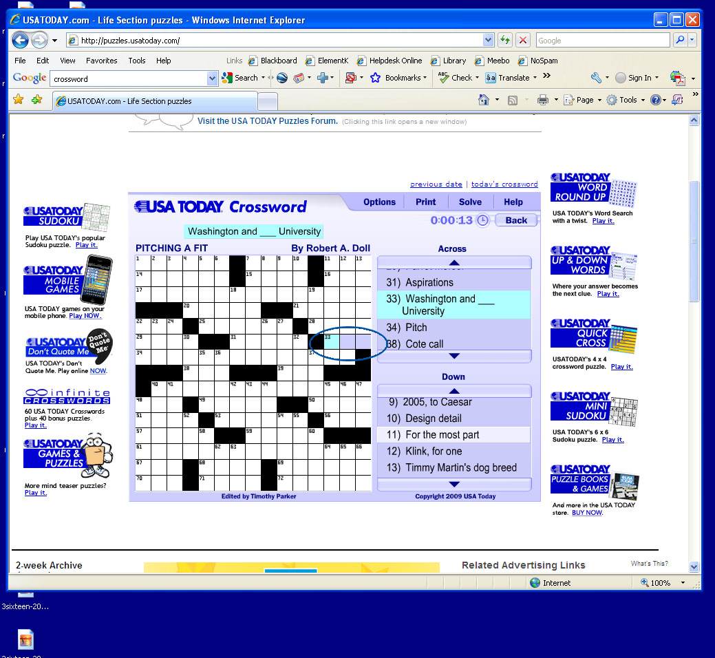 Usa+today+crossword+puzzle+solution